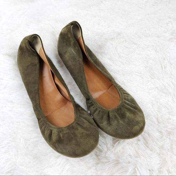 03778730df J. Crew Shoes   Jcrew Cece Ballet Flats Olive Green Suede   Poshmark